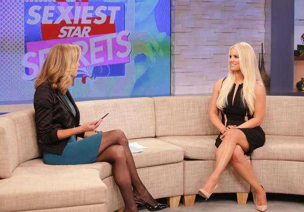 Jessica Simpson appears on 'Good Morning America' on Jan. 7, 2014.