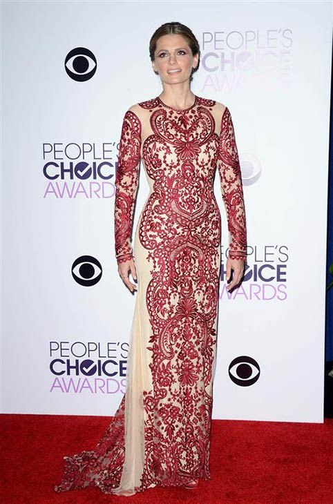 "<div class=""meta ""><span class=""caption-text "">Stana Katic (ABC's 'Castle') appears at the 2014 People's Choice Awards at the Nokia Theatre L.A. Live in Los Angeles on Jan. 8, 2014. (Lionel Hahn / AbacaUSA / Startraksphoto.com)</span></div>"