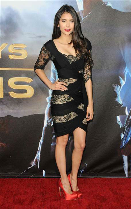 "<div class=""meta ""><span class=""caption-text "">Nina Dobrev appears at the 'Cowboys and Aliens' premiere in San Diego, California on July 23, 2011.  (Sara De Boer / startraksphoto.com)</span></div>"