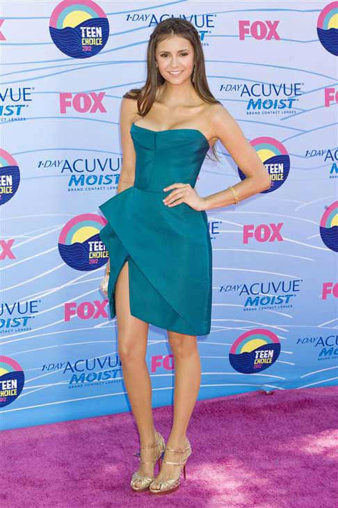 Nina Dobrev appears at the 2012 Teen Choice Awards in Los Angeles, California on July 22, 2012.