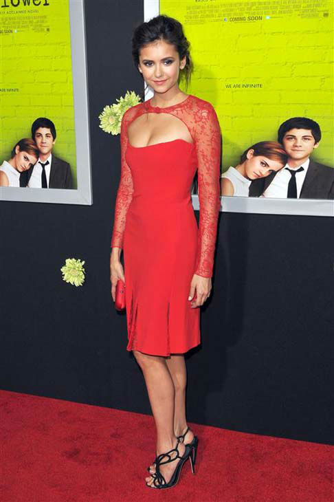 Nina Dobrev appears at the Los Angeles premiere of 'The Perks of Being a Wallflower' on Sept. 10, 2012.