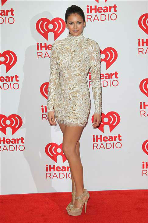 Nina Dobrev appears at the 2012 iHeart Radio Music Festival in Las Vegas, Nevada on Sept. 22, 2012.