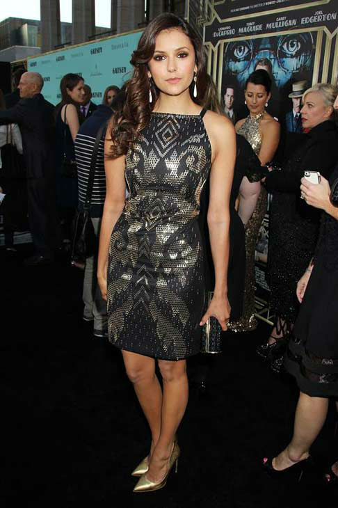 Nina Dobrev appears at the New York City premiere of 'The Great Gatsby' on May 1, 2013.