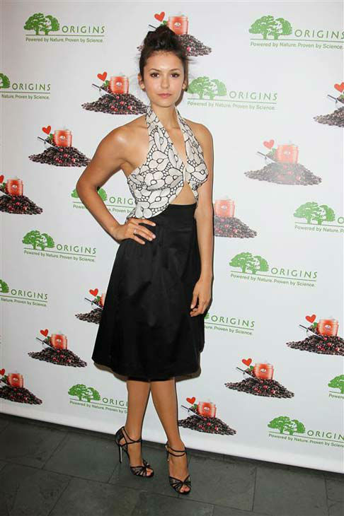 Nina Dobrev appears at the launch of NEW Origins GinZing Energy-Boosting Moisturizer in New York City on May 3, 2013.
