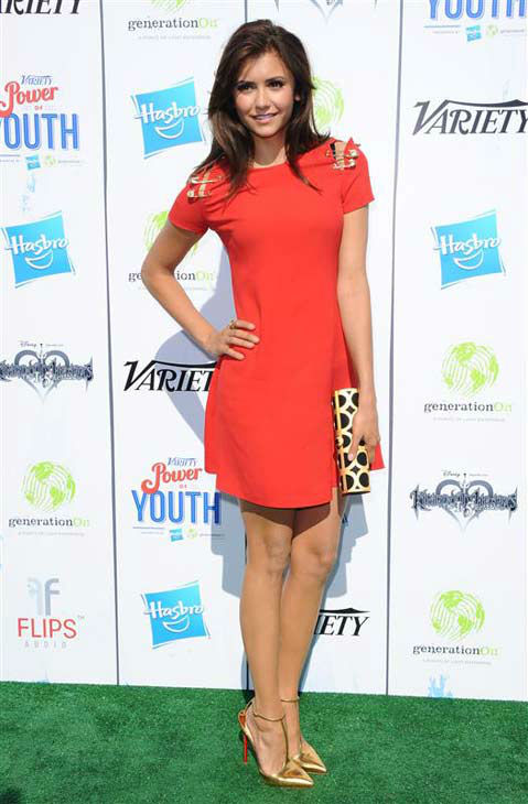 Nina Dobrev appears at Variety's 7th annual Power of Youth event in Los Angeles, California on July 27, 2013.