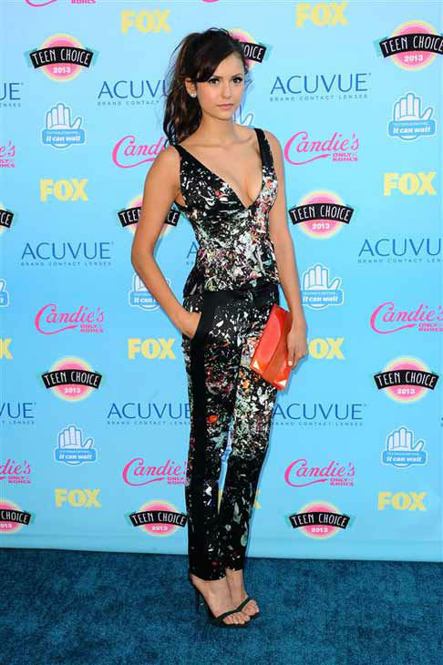 Nina Dobrev appears at the 2013 Teen Choice Awards in Los Angeles, California on Aug. 11, 2013.