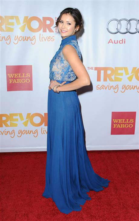 Nina Dobrev appears at the TrevorLIVE LA for The Trevor Project in Los Angeles, California on Dec. 8, 2013.