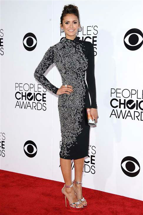 Nina Dobrev appears at the 2014 People's Choice Awards in Los Angeles, California on Jan. 8, 2014.