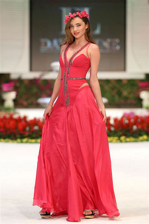 Miranda Kerr appears at the Dosso Dossi Fashion Show in Antalya, Turkey on Jan. 9, 2014. <span class=meta>(Kyle Rover&#47;startraksphoto.com)</span>