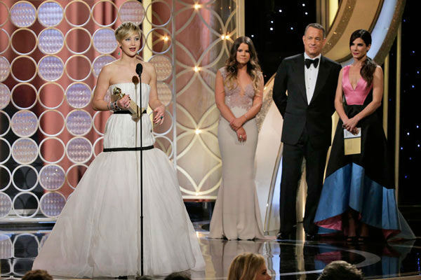 Jennifer Lawrence &#40;and everyone else&#41; gets nervous  Jennifer Lawrence won the Golden Globe for Best Performance by an Actress In A Supporting Role in a Motion Picture for &#39;American Hustle,&#39; but you would have thought it was the Oscar-winning actress&#39; first win because, as she admitted, she was so scared while she was accepting the award.   &#39;It&#39;s kind of unbelievable, really genuinely unbelievable, I can&#39;t process it. It&#39;s just a huge honor. It&#39;s just amazing.&#39;   Lawrence wasn&#39;t the only person to admit they were shaken while accepting their award. Jon Voight and Michael Douglas both admitted feeling a little nervous.   &#40;Pictured: Jennifer Lawrence appears at the Golden Globe Awards on Jan. 12, 2014.&#41; <span class=meta>(Paul Drinkwater&#47;NBC)</span>