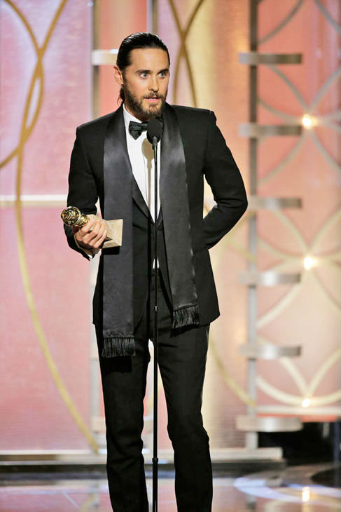 Jared Leto&#39;s revealing acceptance speech  Jared Leto took a long break from acting to focus on his music with his band Thirty Seconds to Mars but made his return this year to play Rayon, a transgender AIDS patient in &#39;Dallas Buyers Club.&#39;   Leto won the Golden Globe for Best Performance by an Actor In A Supporting Role in a Motion Picture and gave quite a revealing speech.   &#39;I&#39;d like to use this opportunity to clear up a few things,&#39; Leto said right after taking the stage to accept the award. &#39;I did not ever use any prosthetics in this film. That tiny, little Brazilian bubble butt was all mine.&#39;   He also talked about having to wax his entire body for the role. Once he put the joking aside, Leto got serious.   &#39;I didn&#39;t make a film for almost six years. I was pursuing other dreams, and I just have to say, it&#39;s more than an honor to come back and have this love and this support,&#39; he said. &#39;I never expected it; I never even dreamed of it. And to the Rayons of the world, thanks for the inspiration.&#39;   &#40;Pictured: Jared Leto appears at the Golden Globe Awards on Jan. 12, 2014.&#41; <span class=meta>(Paul Drinkwater&#47;NBC)</span>