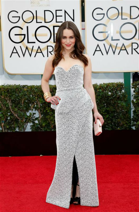 Emilia Clarke &#40;Daenerys Targaryen on &#39;Game Of Thrones&#39;&#41; appears at the 2014 Golden Globe Awards in Beverly Hills, California on Jan. 12, 2014.  <span class=meta>(Lehmann &#47; Startraksphoto.com)</span>