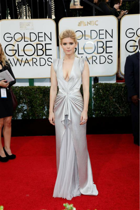 Kate Mara appears at the 2014 Golden Globe Awards in Beverly Hills, California on Jan. 12, 2014.