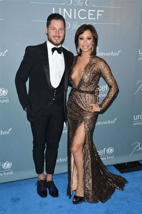 "<div class=""meta ""><span class=""caption-text "">Valentin Chmerkovskiy and Cheryl Burke appear at the 2014 UNICEF Ball in Beverly Hills, California, on Jan. 14, 2013.  (Tony DiMaio/startraksphoto.com)</span></div>"