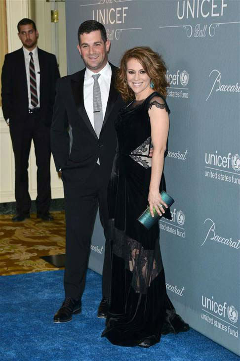 David Bugliari and Alyssa Milano appear at the 2014 UNICEF Ball in Beverly Hills, California, on Jan. 14, 2013.  <span class=meta>(Lionel Hahn&#47;AbacaUSA&#47;startraksphoto.com)</span>