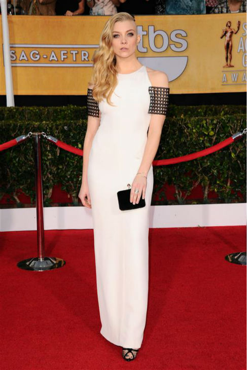"<div class=""meta ""><span class=""caption-text "">Natalie Dormer (Margaery Tyrell on HBO's 'Game Of Thrones') appears at the 2014 Screen Actors Guild (SAG) Awards in Los Angeles on Jan. 18, 2014. She is sported a new half-shaved hairstyle, which she is for a role. (Lionel Hahn / AbacaUSA / Startraksphoto.com)</span></div>"