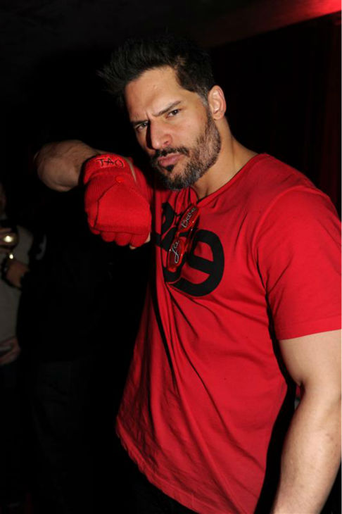 The &#39;Red-Hot&#39; stare: Joe Manganiello appears at the after party for the movie &#39;La Bare,&#39; which features the actor, at Tao in Park City, Utah during the Sundance Film Festival on Jan. 19, 2014. <span class=meta>(Seth Browarnik &#47; Startraksphoto.com)</span>