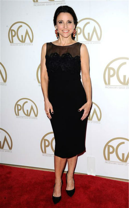 Julia Louis-Dreyfus appears at the 2014 Producers Guild Awards in Beverly Hills, California on Jan. 19, 2014. <span class=meta>(Sara De Boer &#47; Startraksphoto.com)</span>