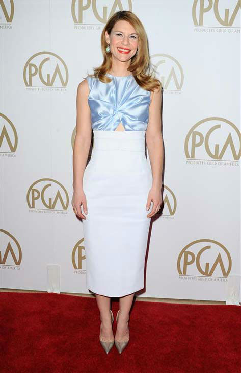 "<div class=""meta image-caption""><div class=""origin-logo origin-image ""><span></span></div><span class=""caption-text"">Claire Danes appears at the 25th annual Producer's Guild Awards (PGAs) in Los Angeles, California on Jan. 19, 2014.  (Sara De Boer / startraksphoto.com)</span></div>"