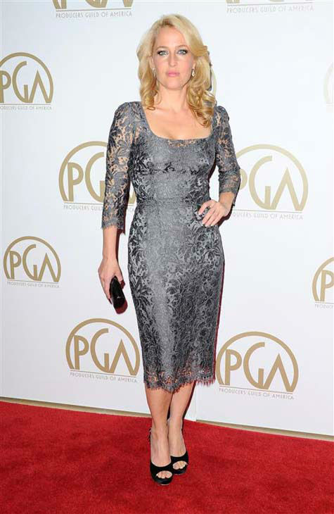 "<div class=""meta ""><span class=""caption-text "">Gillian Anderson appears at the 25th annual Producer's Guild Awards (PGAs) in Los Angeles, California on Jan. 19, 2014.  (Sara De Boer / startraksphoto.com)</span></div>"