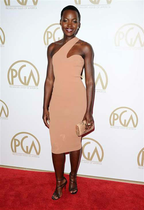 "<div class=""meta ""><span class=""caption-text "">Lupita Nyong'o appears at the 25th annual Producer's Guild Awards (PGAs) in Los Angeles, California on Jan. 19, 2014.  (Sara De Boer / startraksphoto.com)</span></div>"