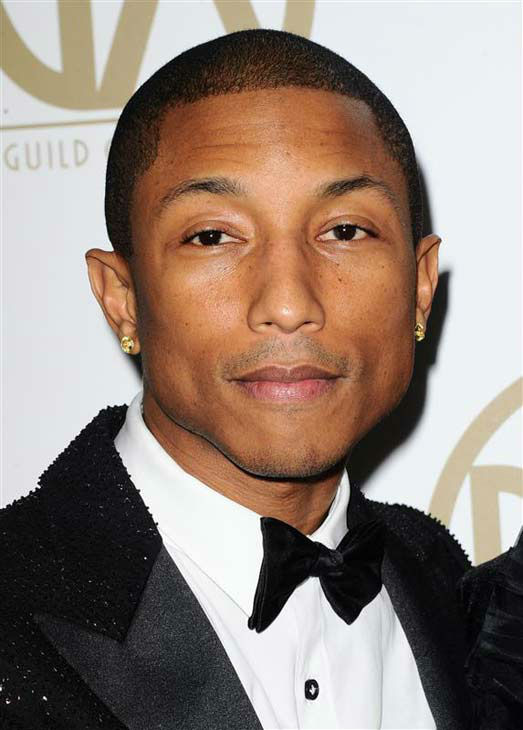 "<div class=""meta ""><span class=""caption-text "">Pharrell Williams appears at the 25th annual Producer's Guild Awards (PGAs) in Los Angeles, California on Jan. 19, 2014.  (Sara De Boer / startraksphoto.com)</span></div>"