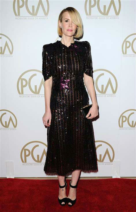 "<div class=""meta ""><span class=""caption-text "">Sarah Paulson appears at the 25th annual Producer's Guild Awards (PGAs) in Los Angeles, California on Jan. 19, 2014.  (Sara De Boer / startraksphoto.com)</span></div>"