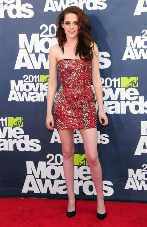 "<div class=""meta ""><span class=""caption-text "">Kristen Stewart appears at the 2011 MTV Movie Awards in Los Angeles, California on June 9, 2011.  (Kyle Rover / startraksphoto.com)</span></div>"