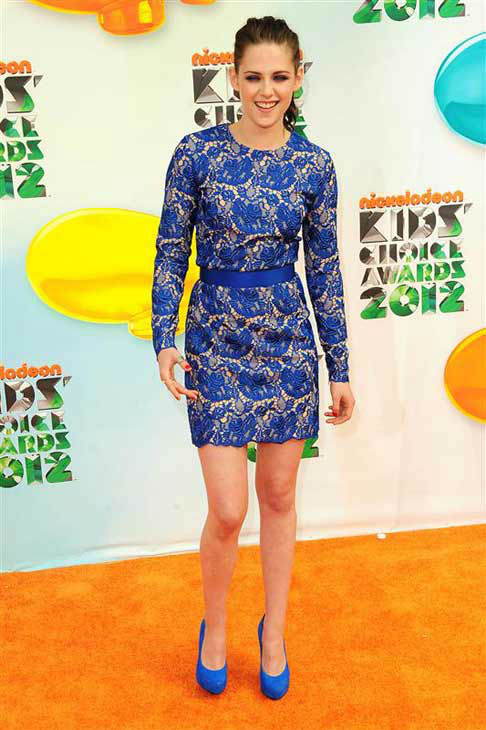 "<div class=""meta ""><span class=""caption-text "">Kristen Stewart appears at the 25th annual Nickelodeon Kids Choice Awards in Los Angeles, California on March 31, 2012.  (Kyle Rover / startraksphoto.com)</span></div>"