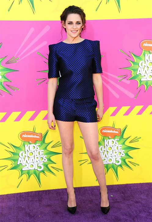 "<div class=""meta ""><span class=""caption-text "">Kristen Stewart appears at the 26th annual Nickelodeon Kid's Choice Awards in Los Angeles, California on March 23, 2013.  (Kyle Rover / startraksphoto.com)</span></div>"