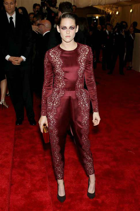"<div class=""meta ""><span class=""caption-text "">Kristen Stewart appears at the PUNK: Chaos To Couture Costume Institute Gala at the Metropolitan Museum of Art in New York City on May 6, 2013.  (Bill Davila / startraksphoto.com)</span></div>"