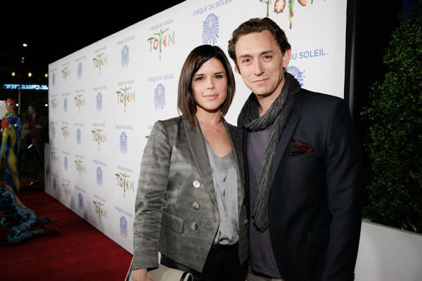 Neve Campbell and JJ Feild appear at the opening night of TOTEM from Cirque du Soleil in Santa Monica, California on Jan. 21, 2014. <span class=meta>(Matt Beard Photography)</span>