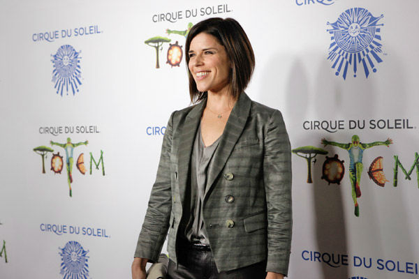 Neve Campbell appears at the opening night of TOTEM from Cirque du Soleil in Santa Monica, California on Jan. 21, 2014. <span class=meta>(Matt Beard Photography)</span>