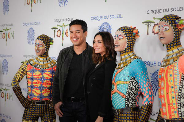 Mario Lopez and Courtney Mazza appear at the opening night of TOTEM from Cirque du Soleil in Santa Monica, California on Jan. 21, 2014. <span class=meta>(Matt Beard Photography)</span>