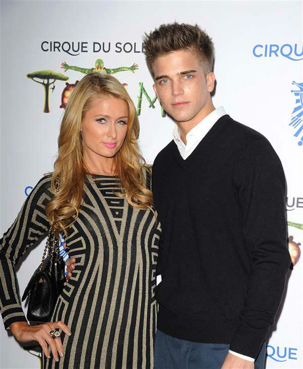 Paris Hilton and River Viiperi appear at the opening night of TOTEM from Cirque du Soleil in Santa Monica, California on Jan. 21, 2014. <span class=meta>(Daniel Robertson&#47;startraksphoto.com)</span>