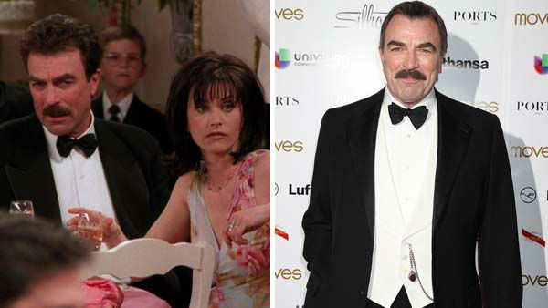 Tom Selleck guest starred as Dr. Richard Burke on &#39;Friends&#39; for several episodes between 1995 and 2000. Richard was known as Monica&#39;s much older boyfriend and close friends with Ross and Monica&#39;s father, Jack. Monica and Richard&#39;s relationship ultimately did not end up working out, as Monica wanted to have children in the future and Richard, who was already a father, did not. Richard resurfaces around the time Chandler plans to propose to Monica, and despite attempting to win her back, he steps aside knowing Chandler is right for her.   Selleck was an established television star by the time he guest starred on &#39;Friends.&#39; He starred on &#39;Magnum, P.I.&#39; from 1980 to 1998, and appeared in several films and TV guest spots following. Currently, he stars on the CBS drama series &#39;Blue Bloods.&#39;  &#40;Pictured: Tom Selleck appears in an episode of &#39;Friends.&#39; Tom Selleck appears at the Moves Magazine Power Women Gala in New York City on Nov. 14, 2013.&#41; <span class=meta>(NBC &#47; Dave Allocca &#47; startraksphoto.com)</span>