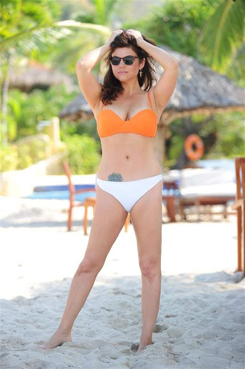 Tiffani Theissen ('Saved By The Bell,' 'Beverly Hills, 90210,' 'White Collar') recently celebrated her 40th birthday on Jan. 25, 2014 in Zihuatanejo, Mexico, where the actress showed off her bikini body at The Viceroy Hotel and Resort.