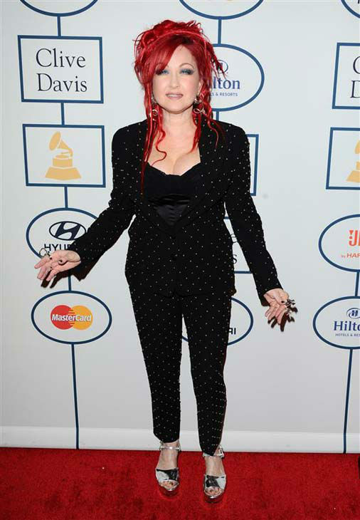 "<div class=""meta ""><span class=""caption-text "">Cindi Lauper appears at the 2014 Clive Davis Pre-Grammy party in Los Angeles, California on Jan. 25, 2014. (Sara De Boer / startraksphoto.com)</span></div>"