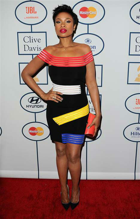 Jennifer Hudson appears at the 2014 Clive Davis Pre-Grammy party in Los Angeles, California on Jan. 25, 2014.