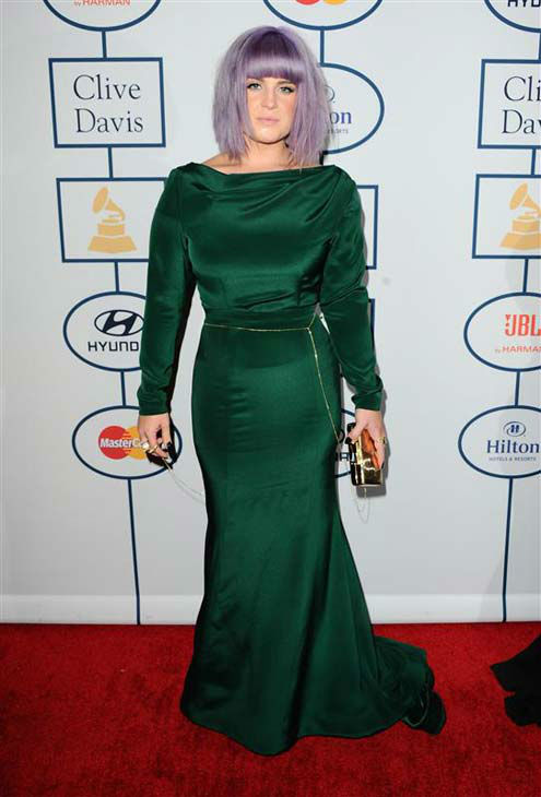 Kelly Osbourne appears at the 2014 Clive Davis Pre-Grammy party in Los Angeles, California on Jan. 25, 2014.