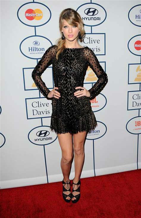 "<div class=""meta ""><span class=""caption-text "">Taylor Swift at the 2014 Clive Davis Pre-Grammy party in Los Angeles, California on Jan. 25, 2014. (Sara De Boer / startraksphoto.com)</span></div>"