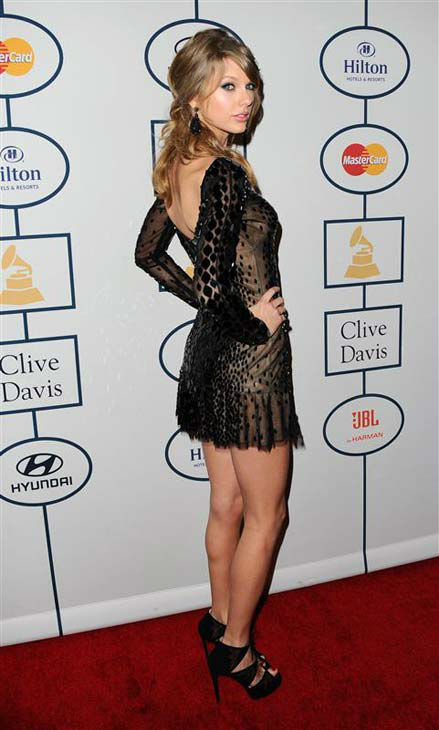Taylor Swift at the 2014 Clive Davis Pre-Grammy party in Los Angeles, California on Jan. 25, 2014.