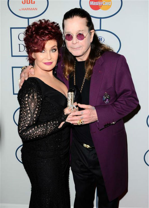 Ozzy Osbourne and wife Sharon Osbourne appear at a pre-Grammy gala at the Beverly Hills hotel in Beverly Hills, California on Jan. 25, 2014. The two wed in July 1982 and share two daughters, including TV personality Kelly Osbourne, and a son, fellow TV star Jack Osbourne. <span class=meta>(Sara De Boer &#47; Startraksphoto.com)</span>