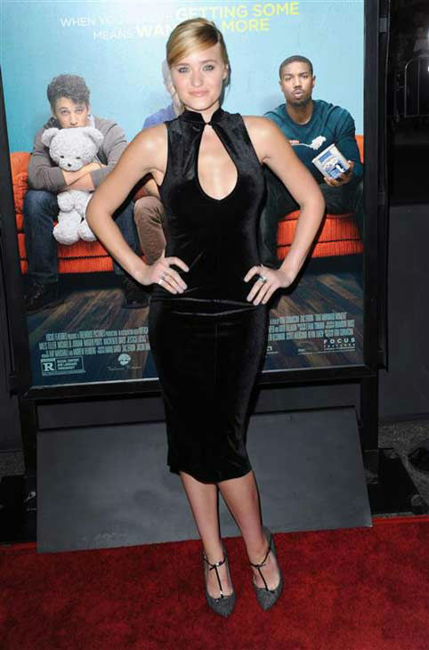 Aly Michalka appears at the premiere of the R-rated comedy movie 'That Akward Moment' at L.A. Live Regal Cinemas in Los Angeles on Jan. 27, 2014.