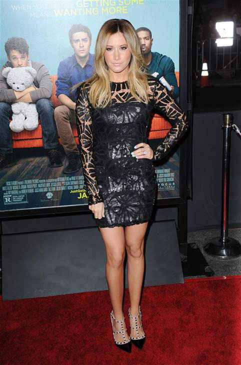 Ashley Tisdale appears at the premiere of the R-rated comedy movie &#39;That Akward Moment&#39; at L.A. Live Regal Cinemas in Los Angeles on Jan. 27, 2014. <span class=meta>(Lionel Hahn &#47; Abacausa &#47; Startraksphoto.com)</span>