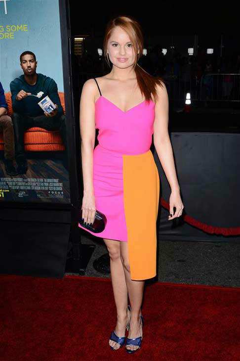 Debby Ryan appears at the premiere of the R-rated comedy movie &#39;That Akward Moment&#39; at L.A. Live Regal Cinemas in Los Angeles on Jan. 27, 2014. <span class=meta>(Lionel Hahn &#47; Abacausa &#47; Startraksphoto.com)</span>