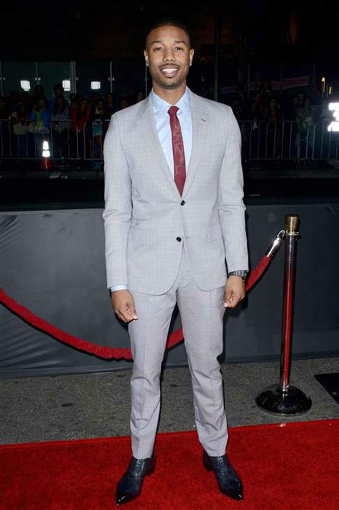 Michael B. Jordan appears at the premiere of the R-rated comedy movie &#39;That Akward Moment&#39; at L.A. Live Regal Cinemas in Los Angeles on Jan. 27, 2014. <span class=meta>(Lionel Hahn &#47; Abacausa &#47; Startraksphoto.com)</span>