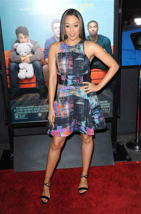 Tia Mowry appears at the premiere of the R-rated comedy movie &#39;That Akward Moment&#39; at L.A. Live Regal Cinemas in Los Angeles on Jan. 27, 2014. <span class=meta>(Lionel Hahn &#47; Abacausa &#47; Startraksphoto.com)</span>