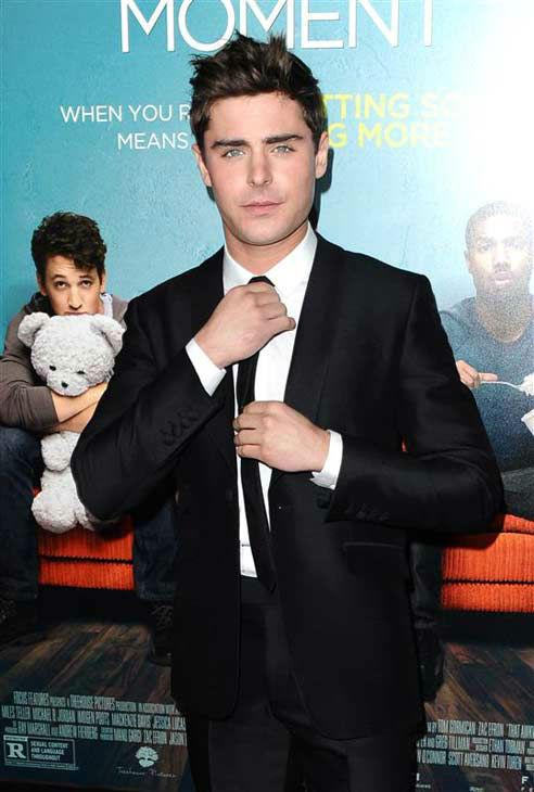 Zac Efron appears at the premiere of the R-rated comedy movie &#39;That Akward Moment&#39; at L.A. Live Regal Cinemas in Los Angeles on Jan. 27, 2014. <span class=meta>(Sara De Boer &#47; Startraksphoto.com)</span>
