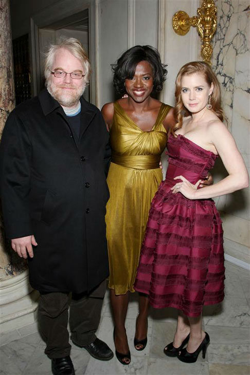 "<div class=""meta image-caption""><div class=""origin-logo origin-image ""><span></span></div><span class=""caption-text"">Philip Seymour Hoffman, Viola Davis and Amy Adams appear at the New York premiere of 'Doubt' on Dec. 7, 2008. (Marion Curtis/Startraksphoto.com)</span></div>"